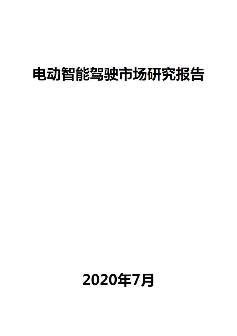 电动智能驾驶市场研究报告.pdf