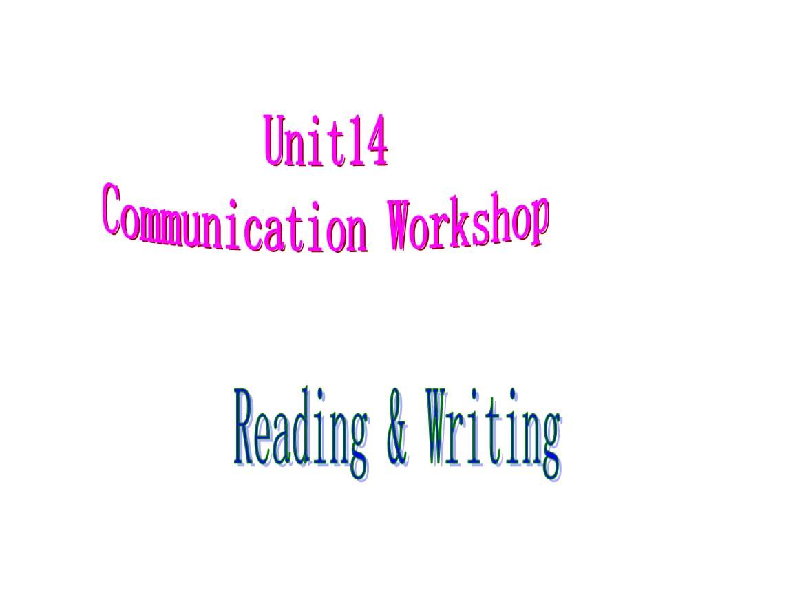 高中英語復習北師大版必修五《Unit 14 Communication Workshop  Writing 》(共29張PPT).ppt