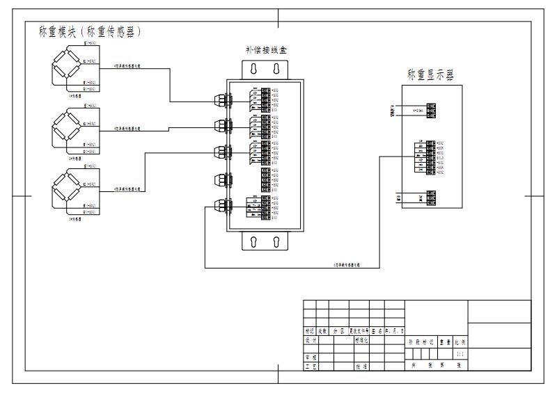 HY550接线图称重模块接线图 3只传感器.pdf