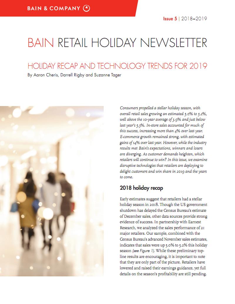2018年假日购物季零售业回顾报告(英文版) 零售行业年报 零售行业年报.pdf