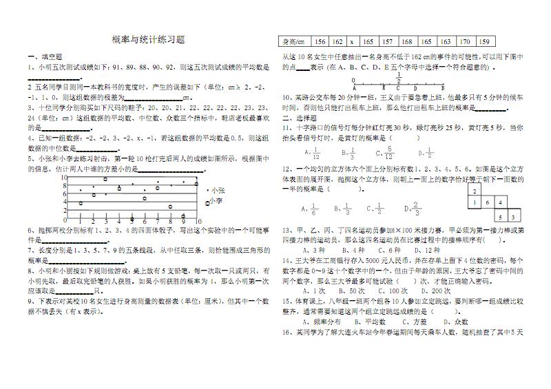 概率与统计练习题.pdf