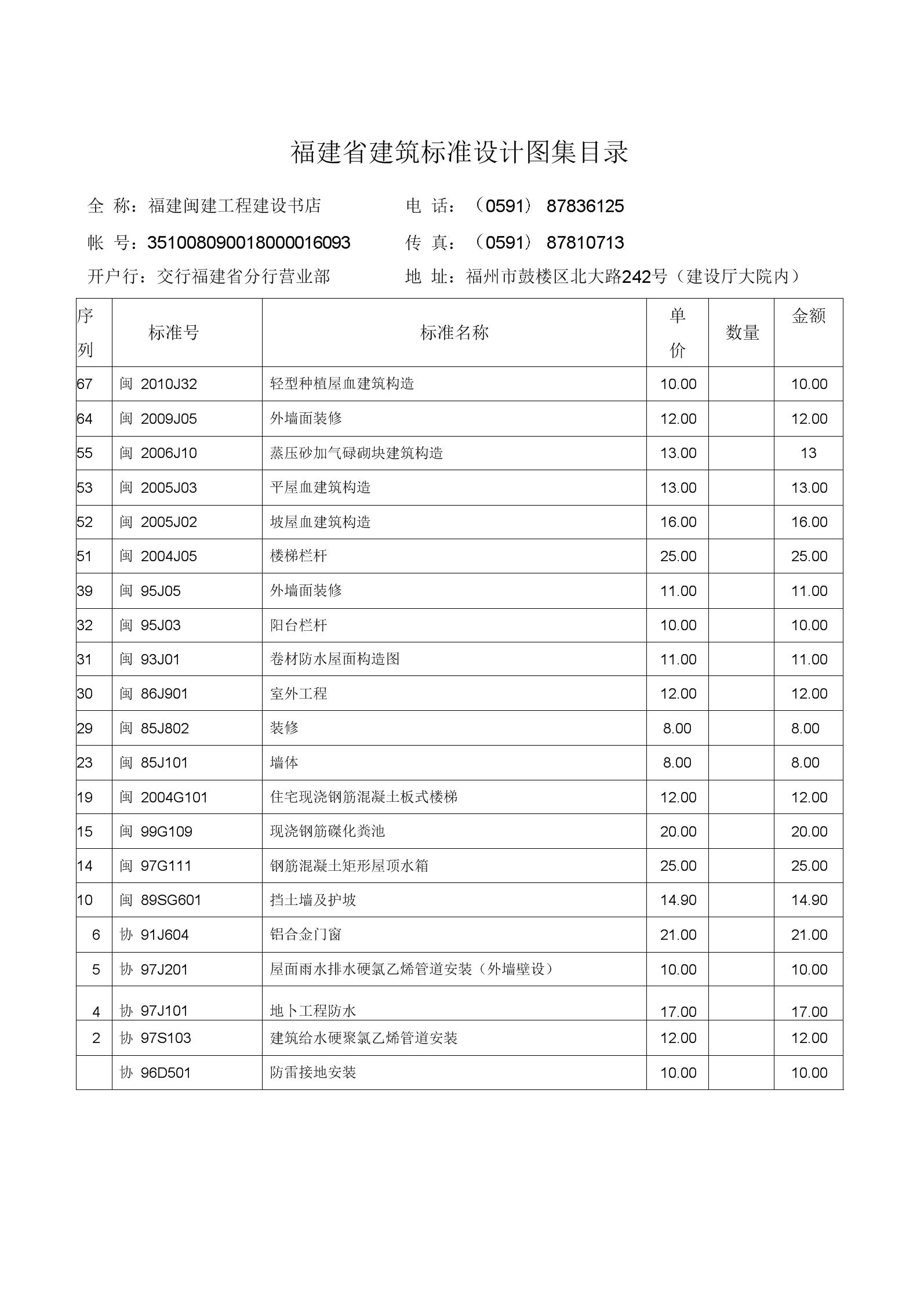 福建省建筑标准设计图集.docx