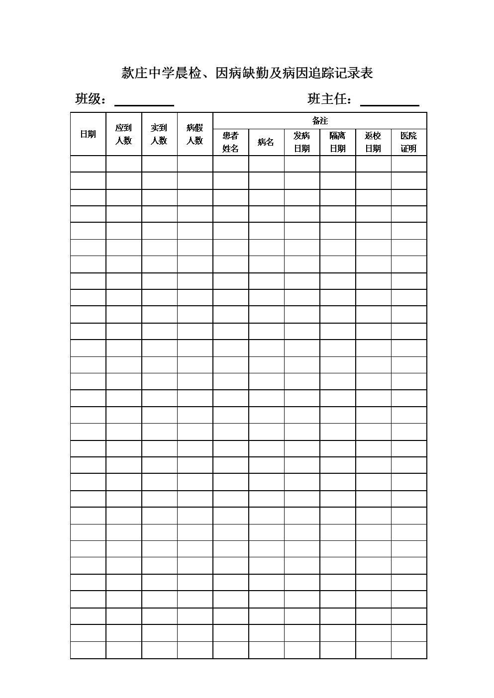 病因追踪记录表.docx