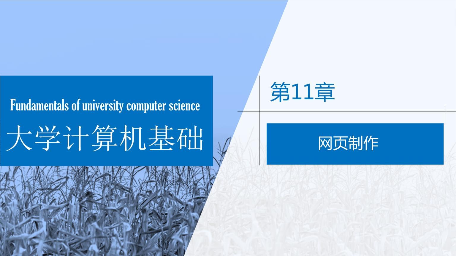 大学计算机基础——Windows 10+Office 2016 第11章 网页制作.pptx