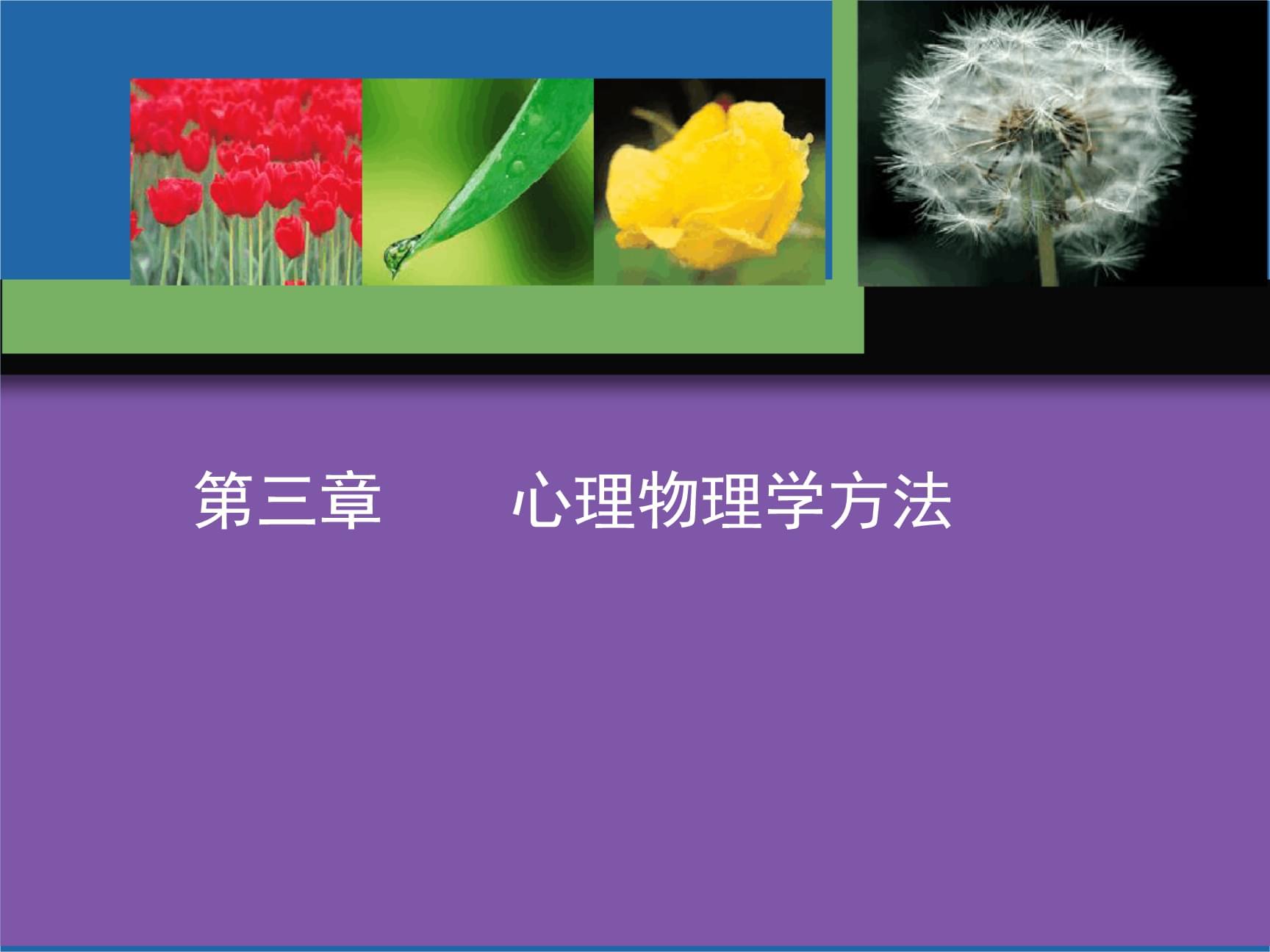 实验心理学心理物理学方法 1资料.ppt