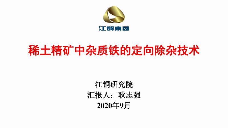 稀土精矿中杂质铁的定向除杂技术.pdf