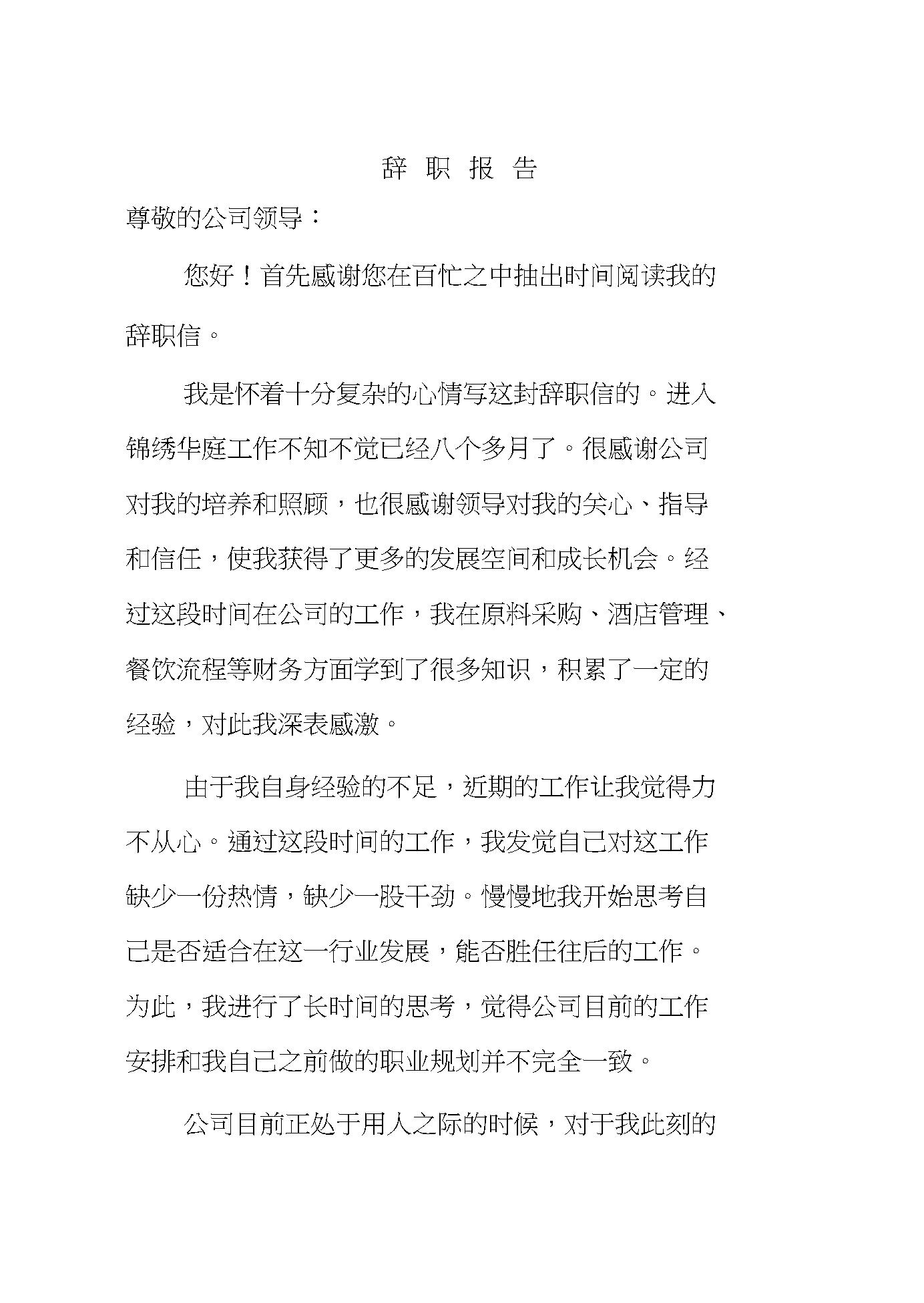 2020版财务人员辞职报告.docx