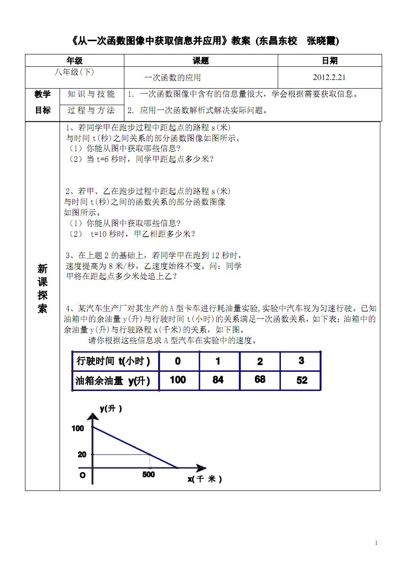 从一次函数图像中获取信息并应用教案 (2).pdf