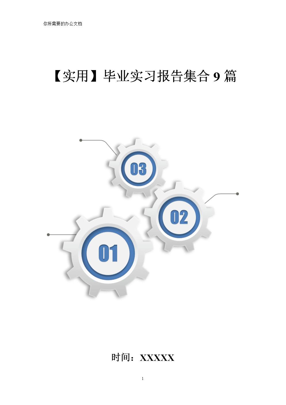 【实用】毕业实习报告集合9篇.doc