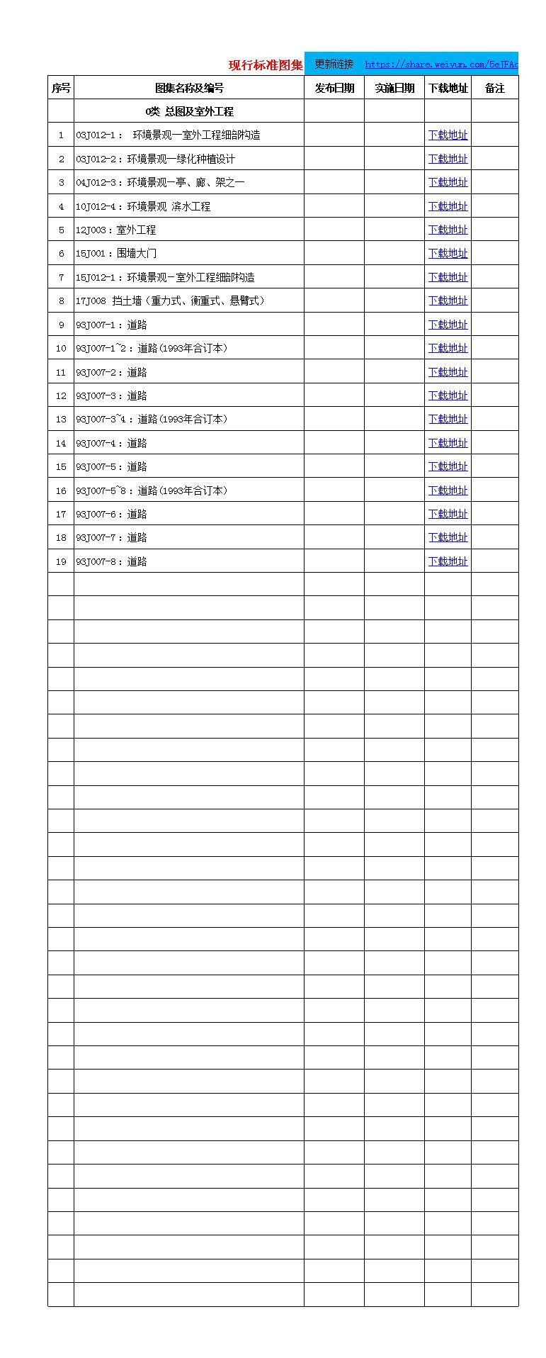 图集规范目录汇编.xlsx