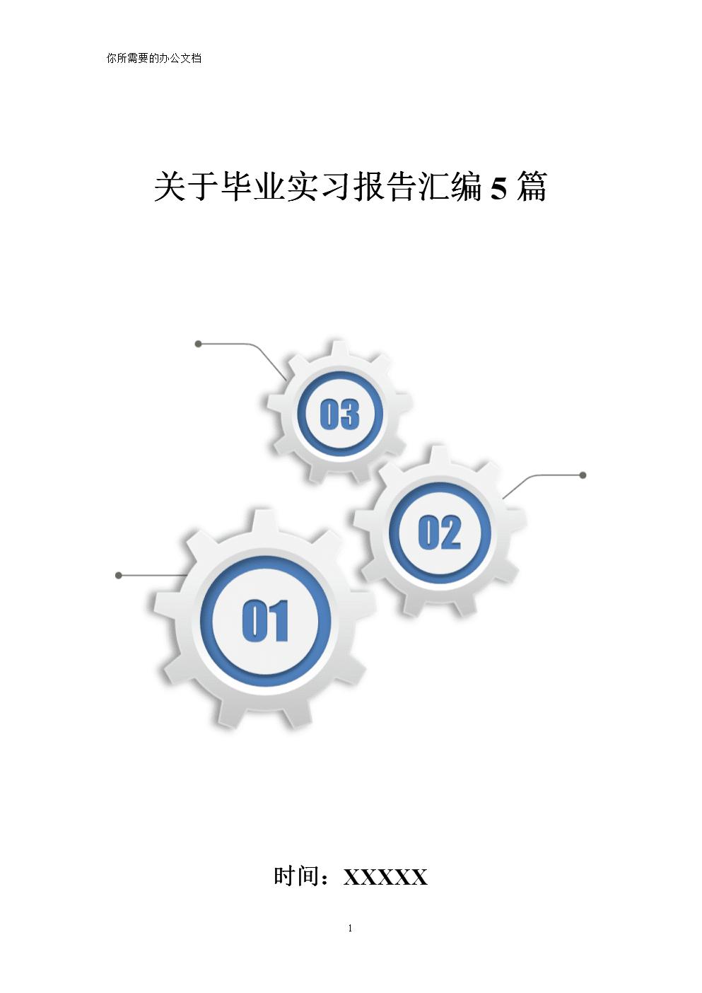 关于毕业实习报告汇编5篇精编.doc