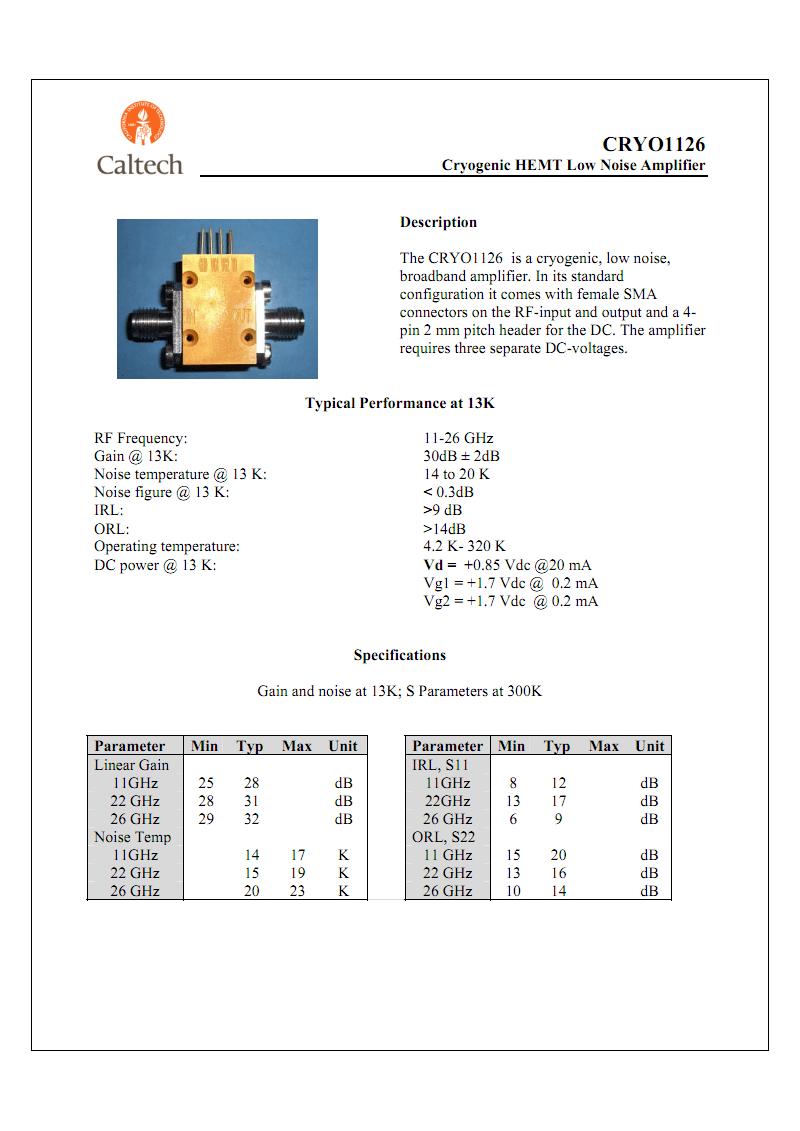 CRYO1126-CN--低温HEMT低噪音放大器--11-26GHz.pdf