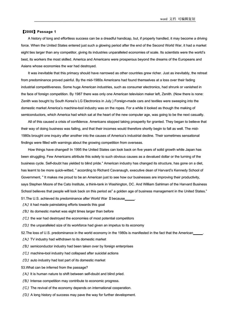 1996-2010考研英语阅读真题打印版.pdf