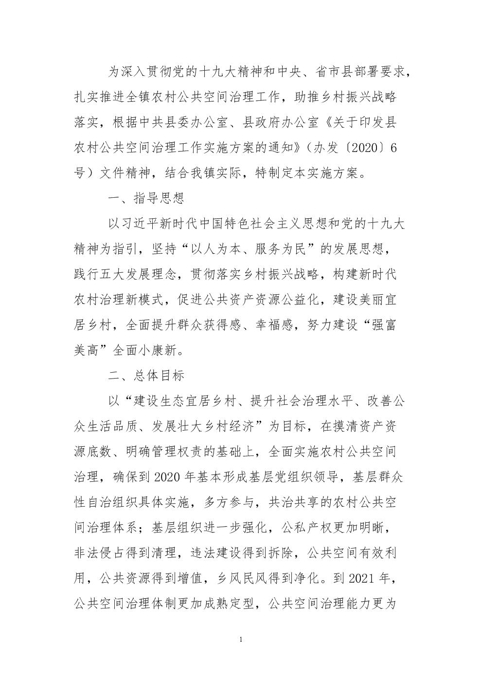 农村公共空间治理工作实施方案.doc