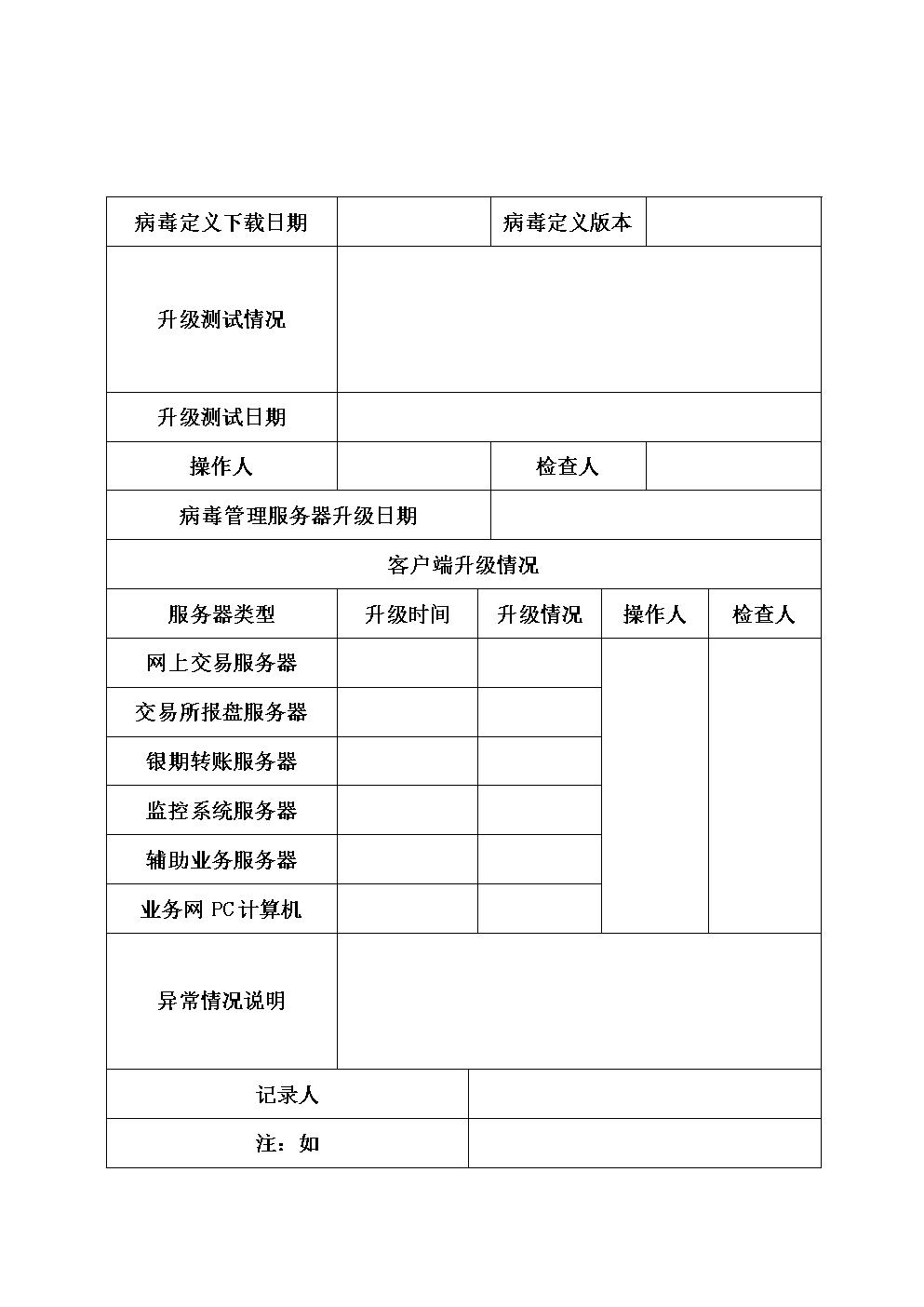 防病毒软件病毒定义升级表.doc