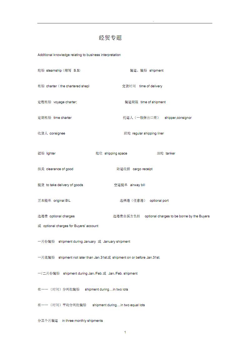 常用商务英语专业词汇句型大全 .pdf