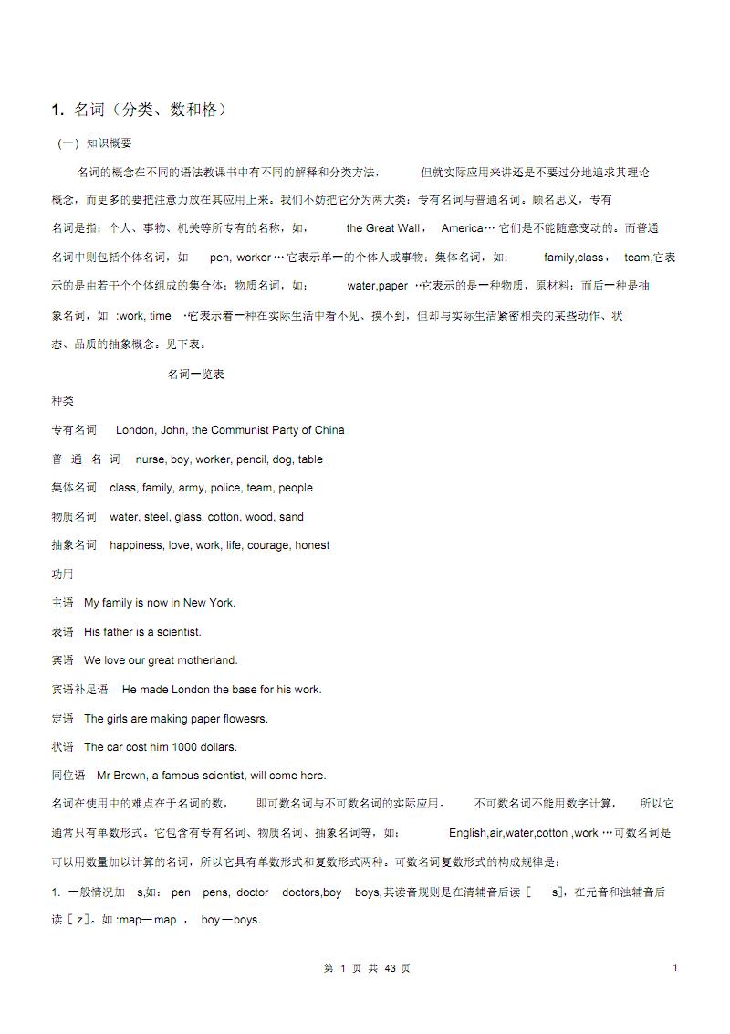 中考英语语法精华版 .pdf