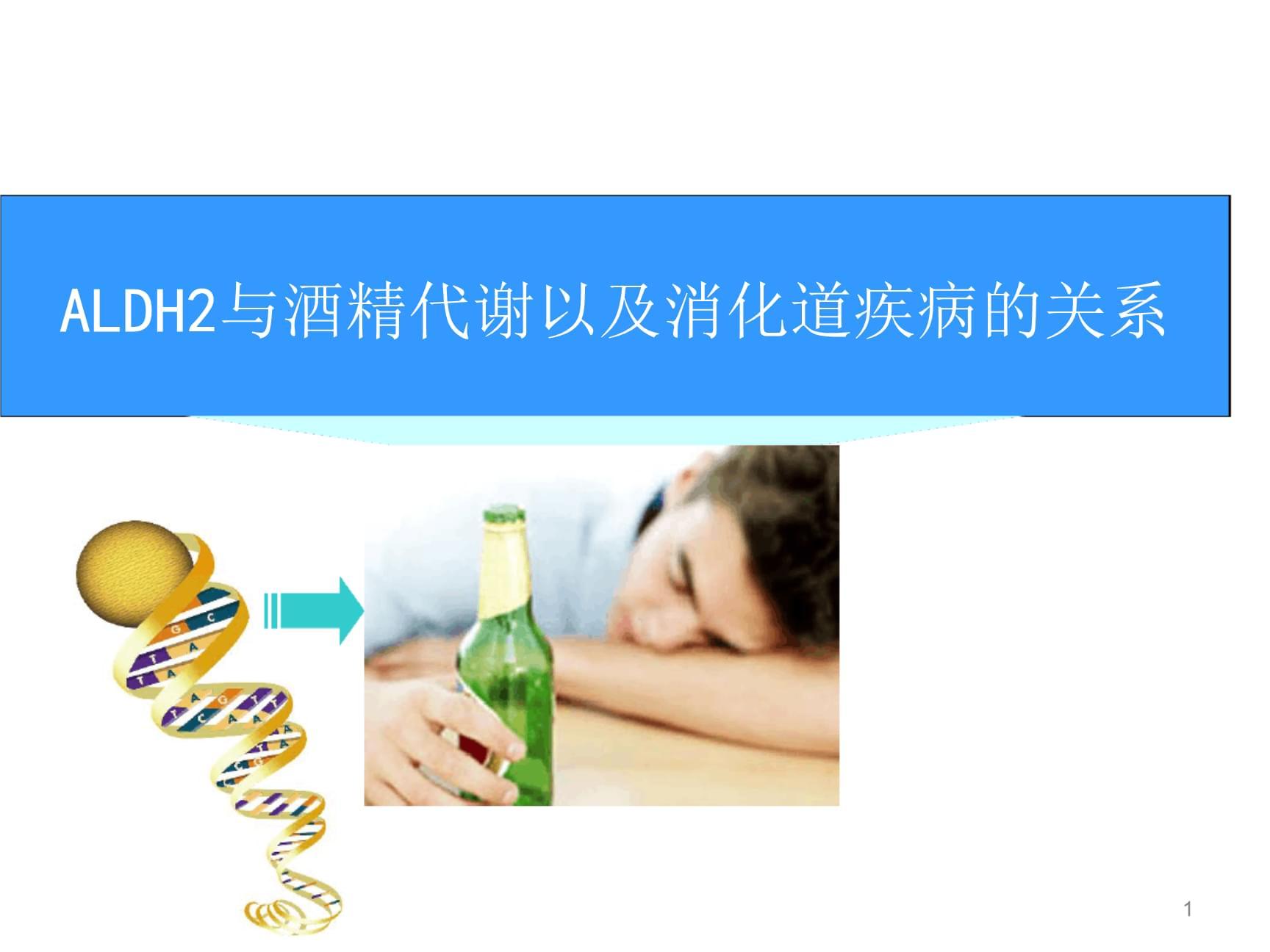 ALDH2基因检测演示幻灯片.ppt
