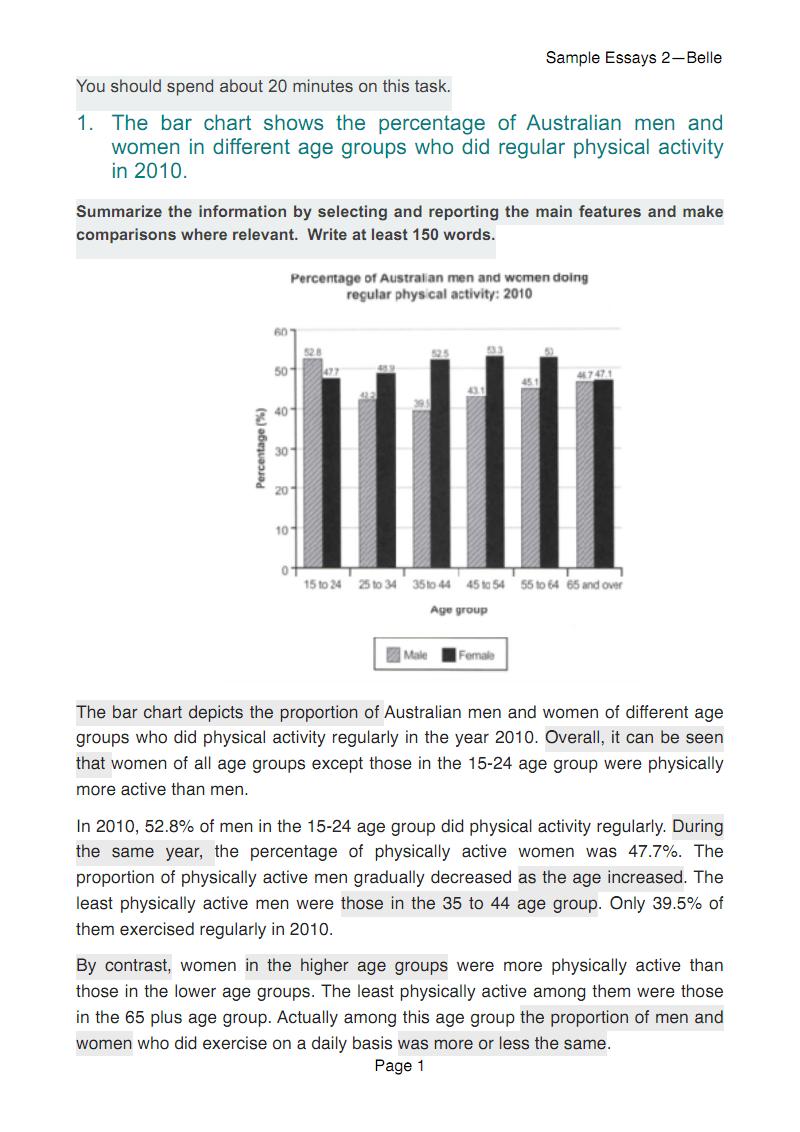 雅思小作文数据图范文TASK 1 samples.pdf