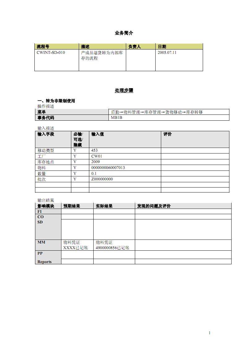 操作手册(产成品退货转为内部库存的流程CWINT-SD-010).pdf