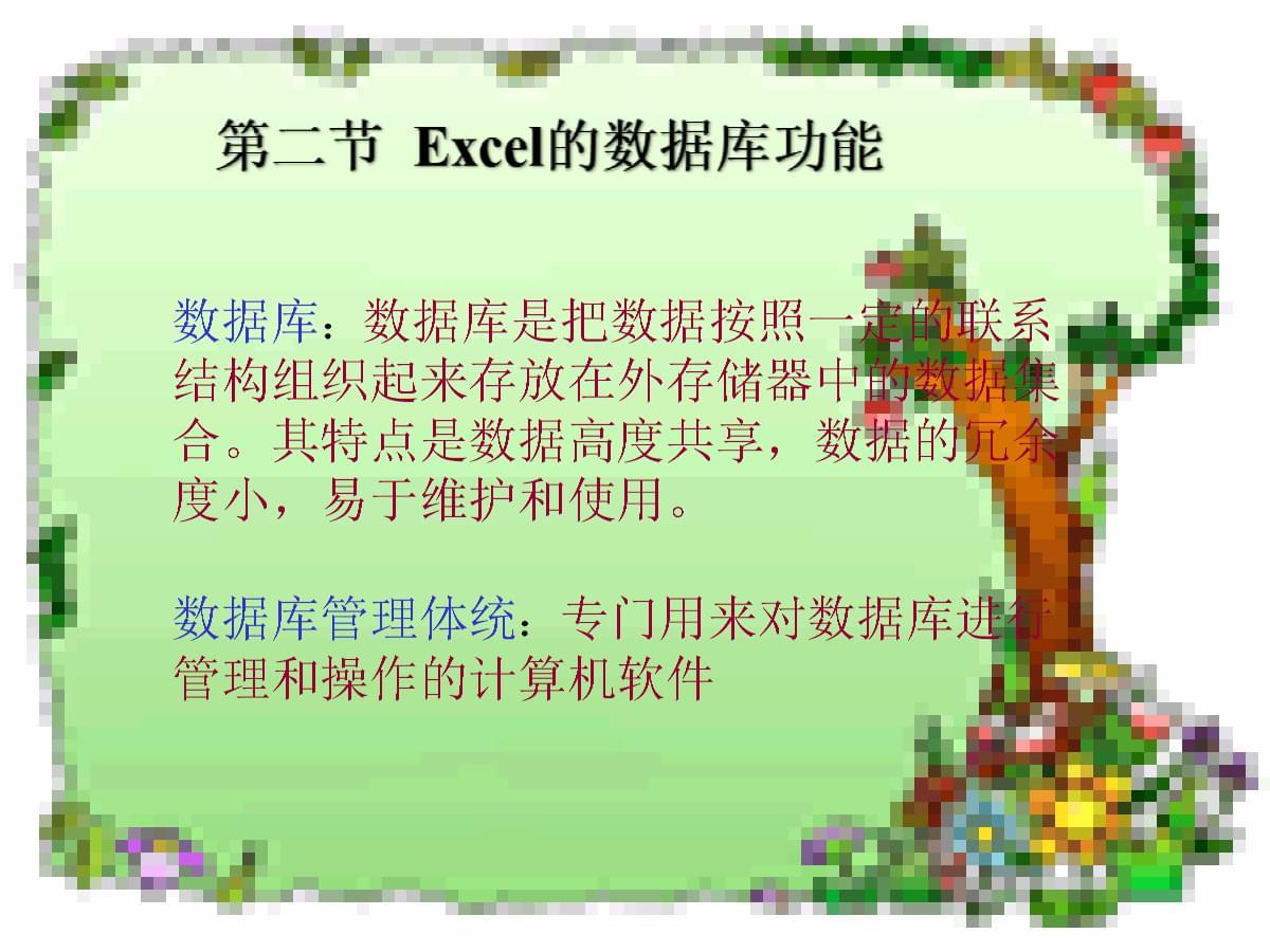 ②Excel的数据库功能(教学课件).ppt