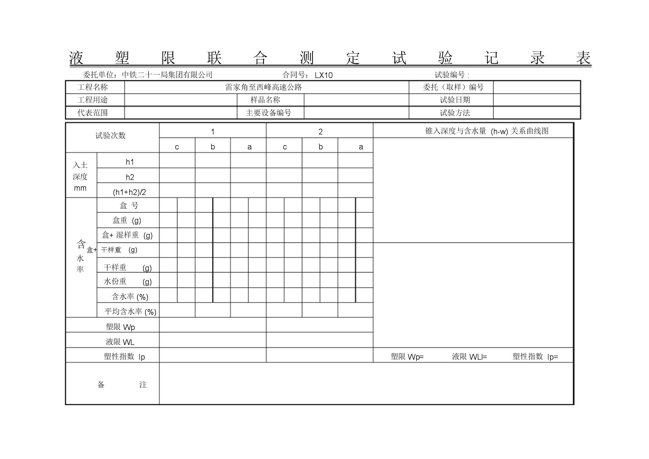 4-液塑限联合测定试验记录表.doc
