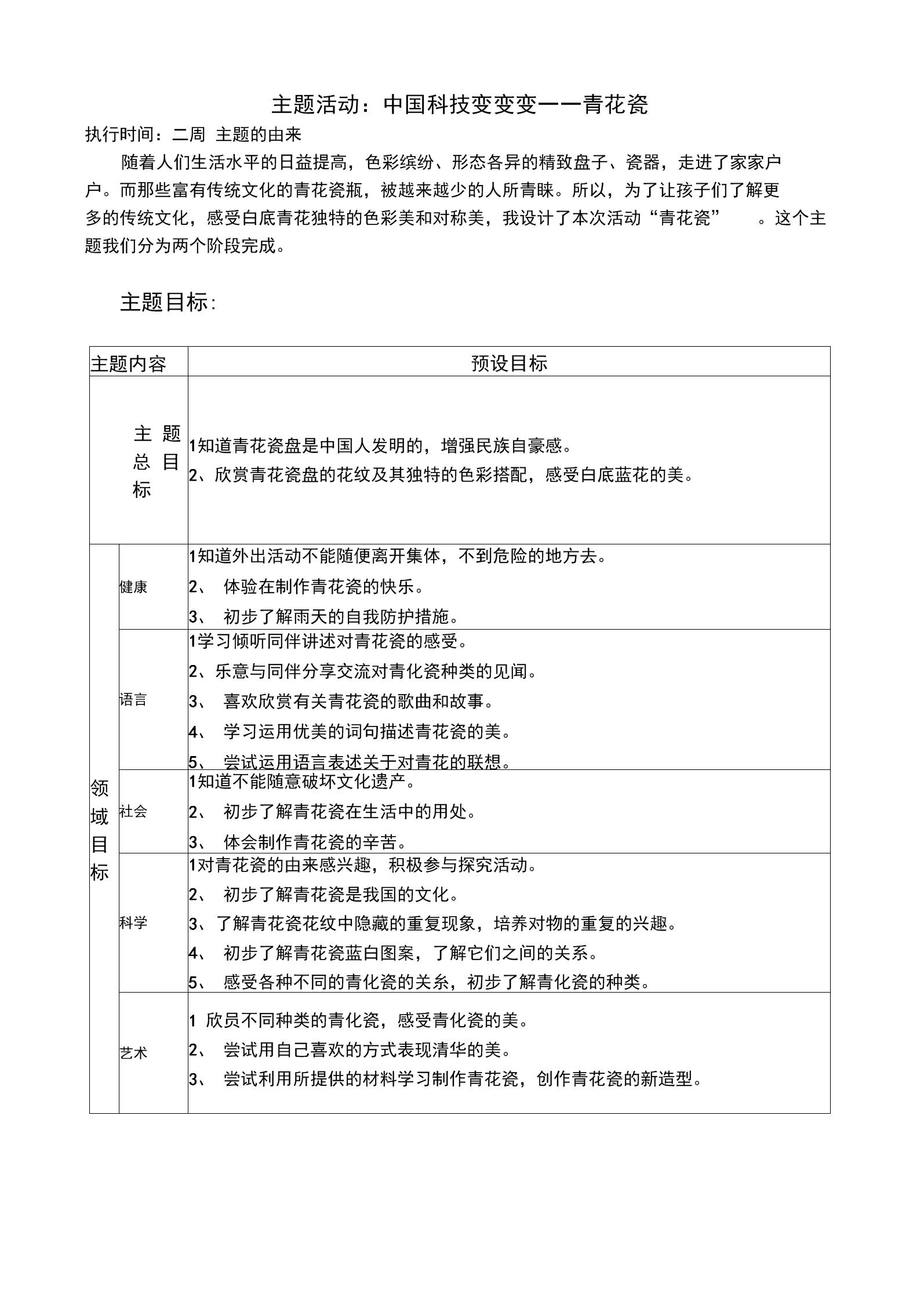 主题活动:青花瓷(目标及网络图).docx