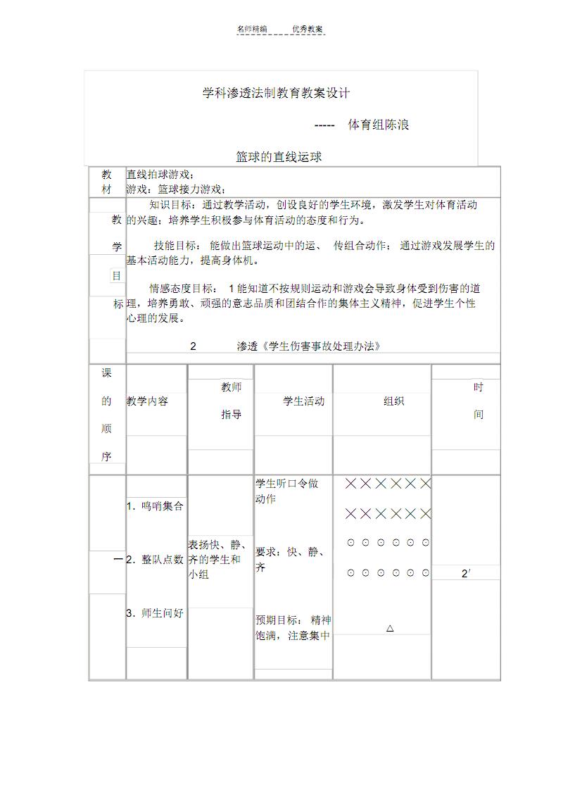 学科渗透法制教育体育与健康教案对抗word版本.pdf