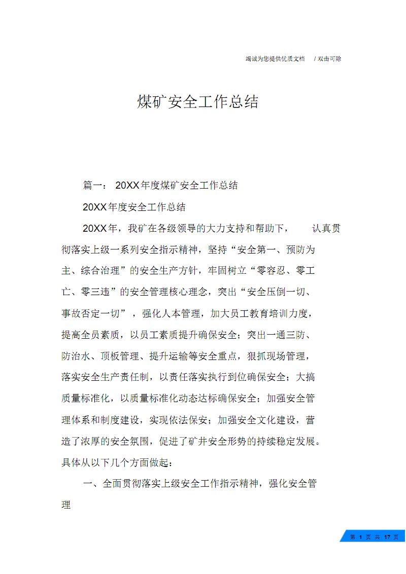 煤矿安全工作 总结.pdf