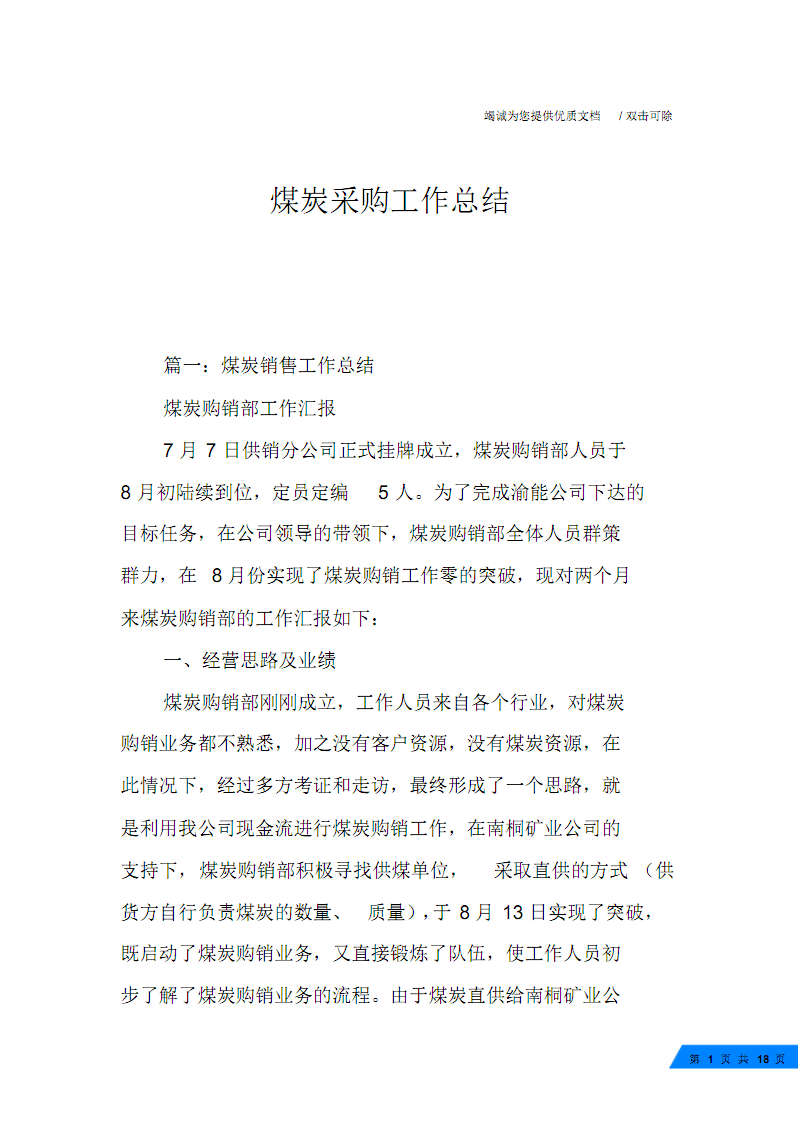 煤炭采购工作总结.pdf