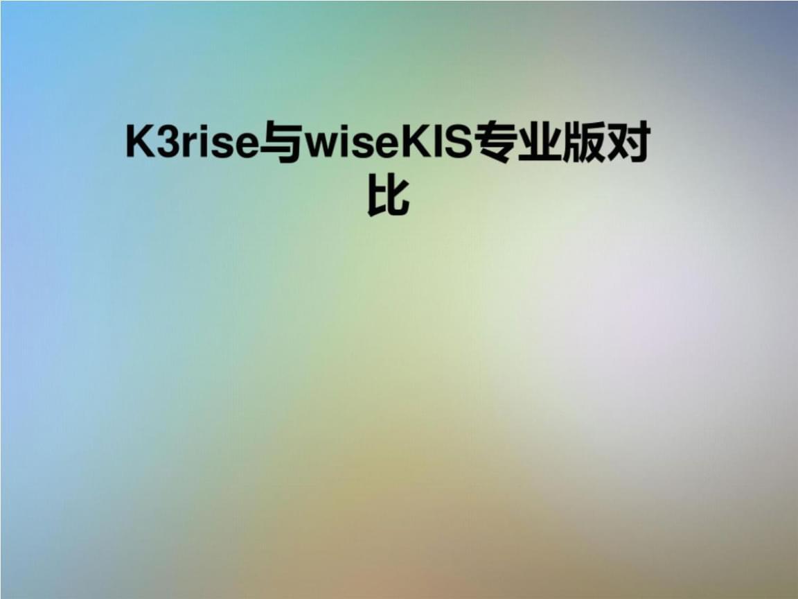 K3rise与wiseKIS专业版对比.pptx