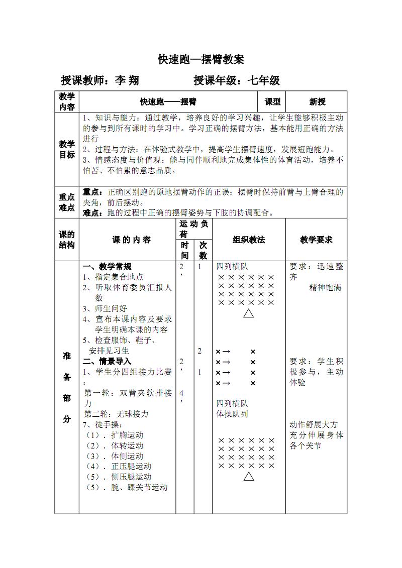 短跑—原地摆臂教案.pdf