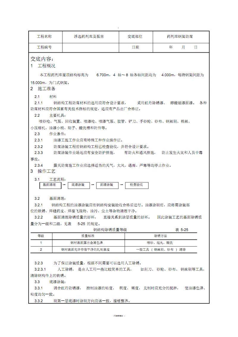钢结构防腐技术交底.pdf