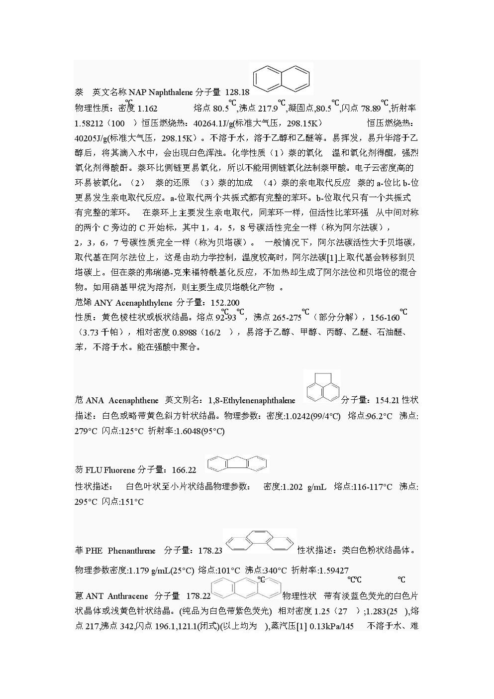 常见多环芳烃的物理性质.doc