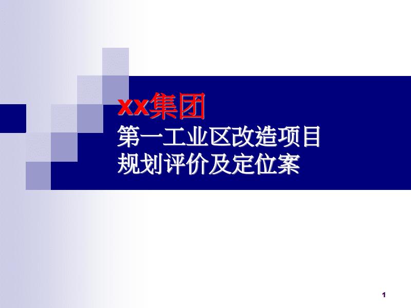 某集团改造项目规划评价及定位案.pdf