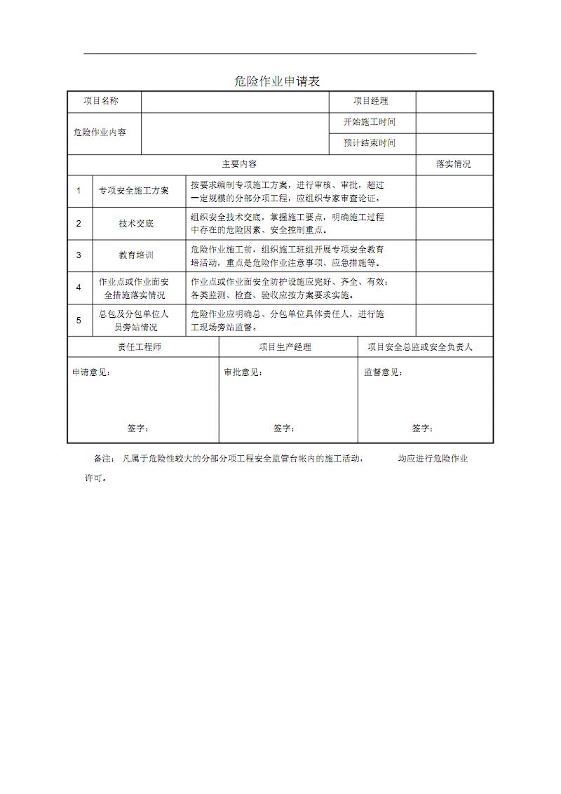 危险作业  申请表.pdf