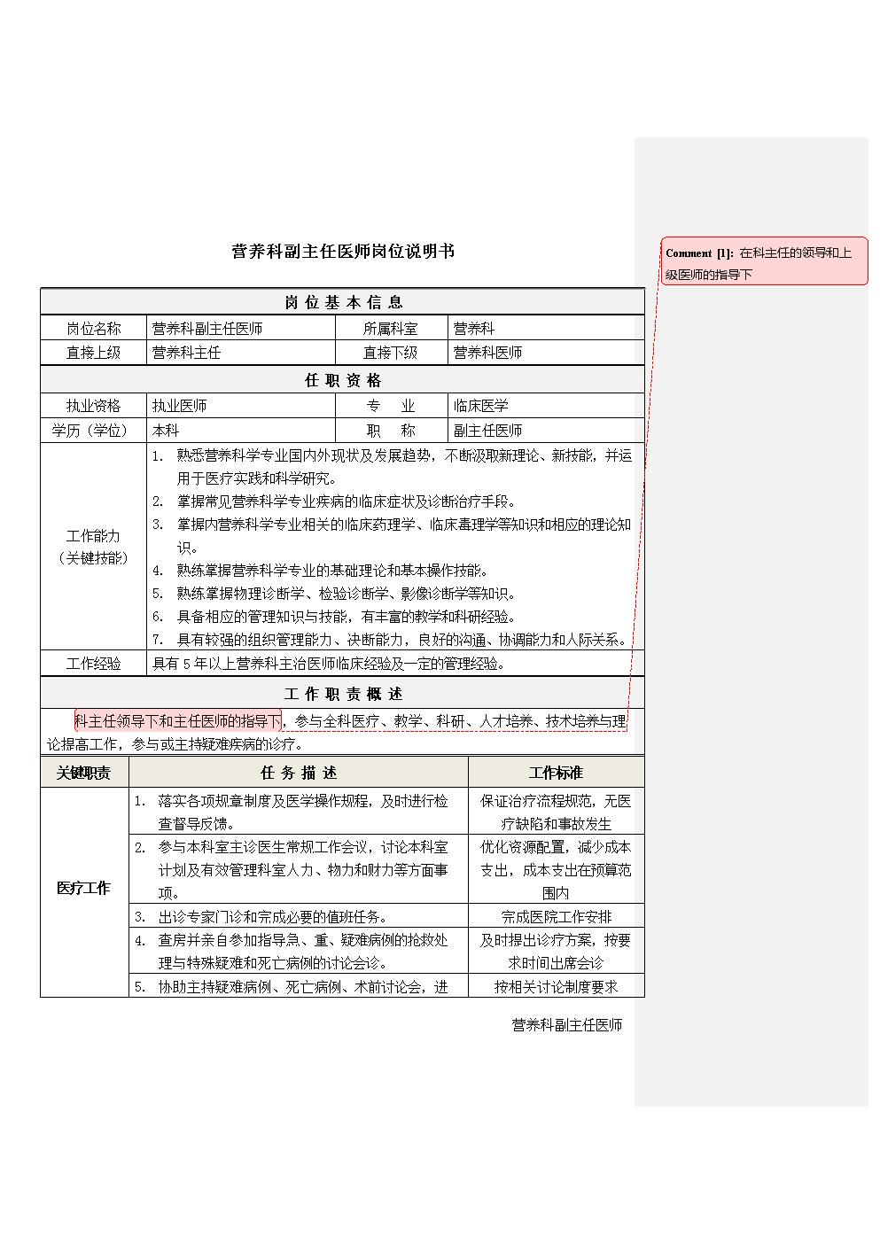 2营养科副主任医师岗位说明书.docx