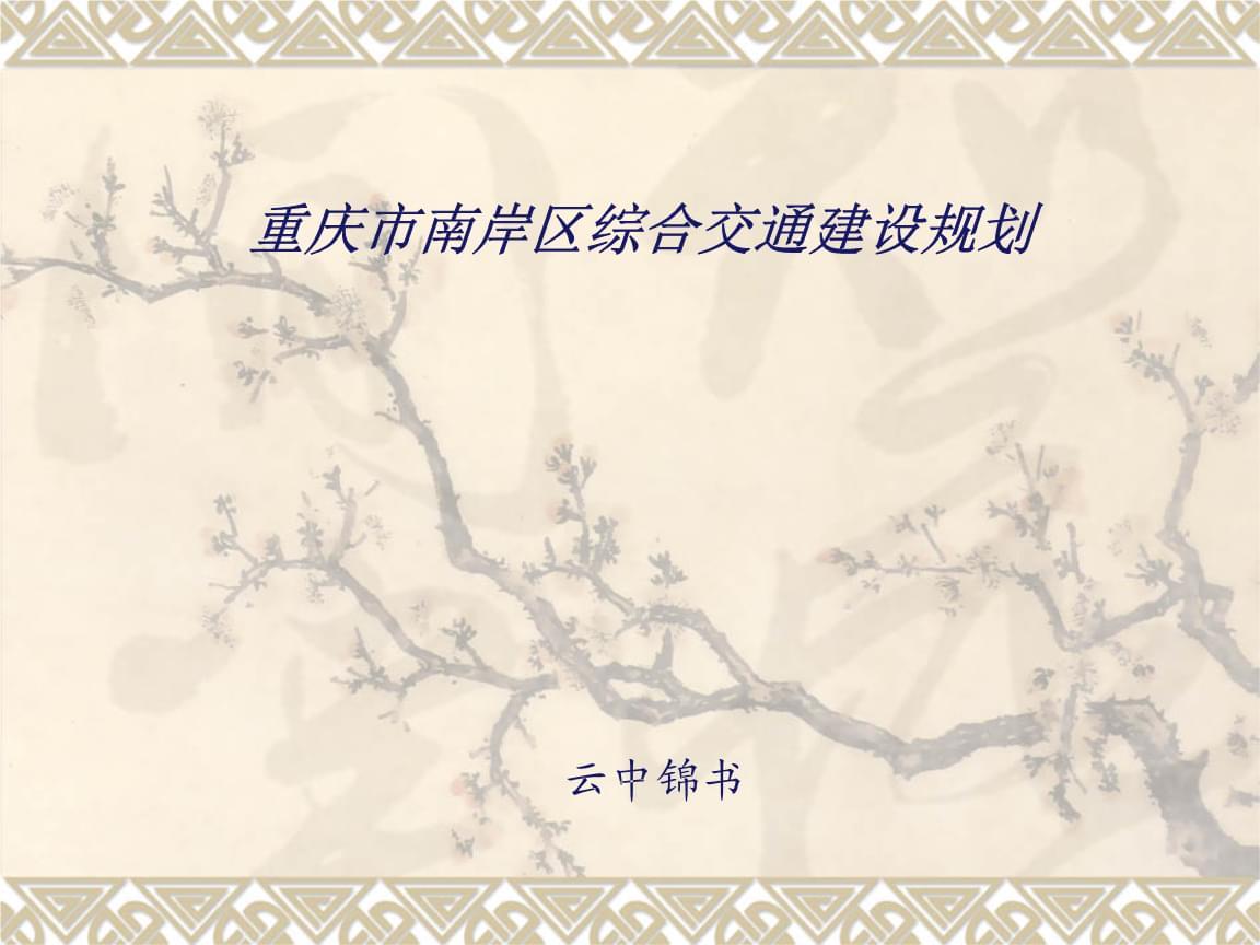 重庆市南岸区综合交通建设规划.ppt