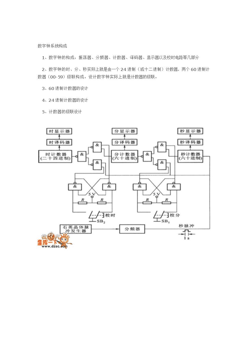 完整word版数字钟设计.doc