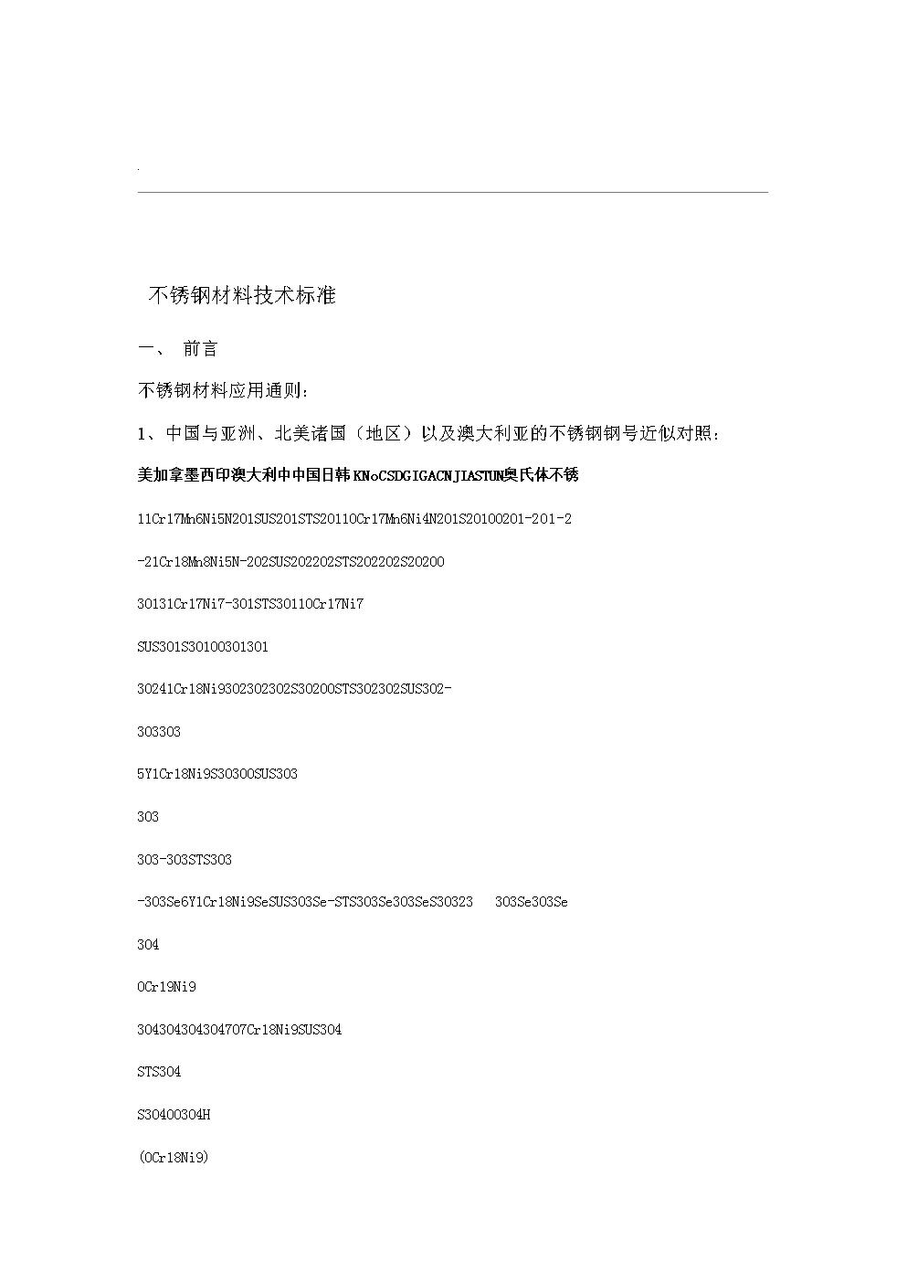不锈钢材料技术标准 (2).doc