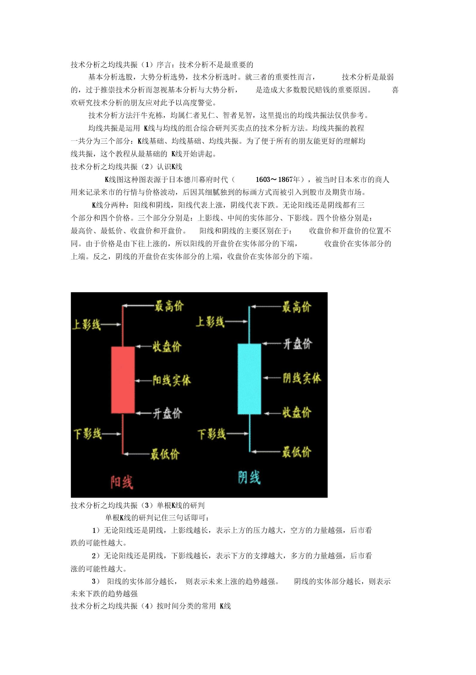 技术分析之均线共振.docx
