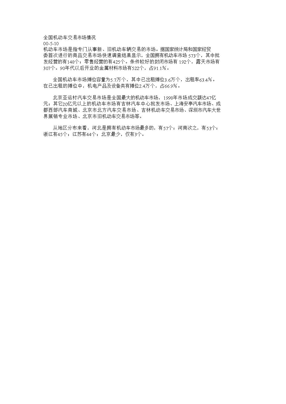 全国机动车交易市场情况.doc
