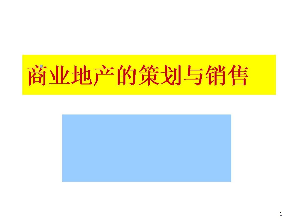 商业地产的策划与销售精细讲解(北大课件).pptx