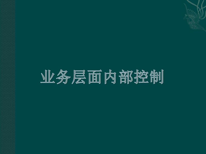 业务层面内部控制课件(第三讲).pdf