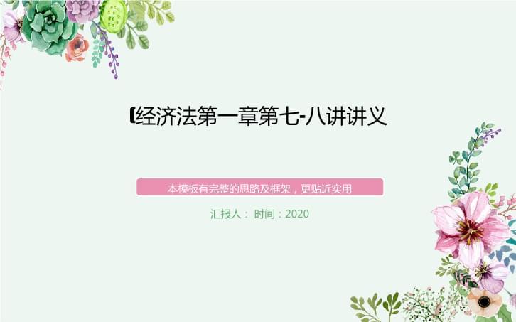 (经济法第一章第七-八横讲讲义.ppt