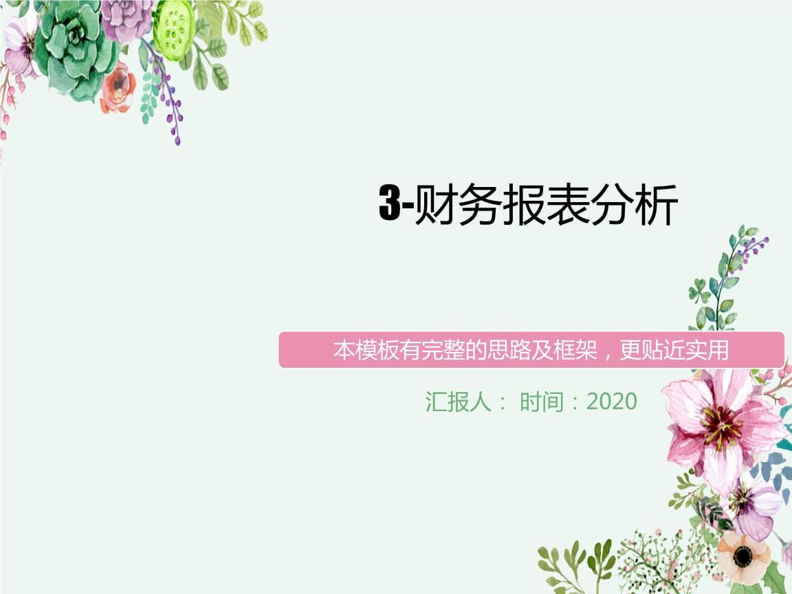 3-财务报柳表解析.ppt