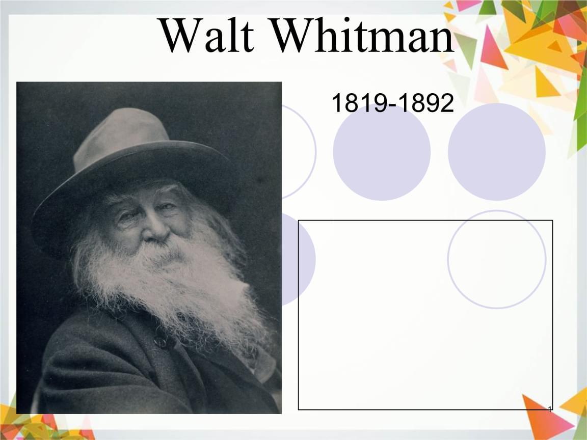 美国文学课件Walt-Whitman.ppt