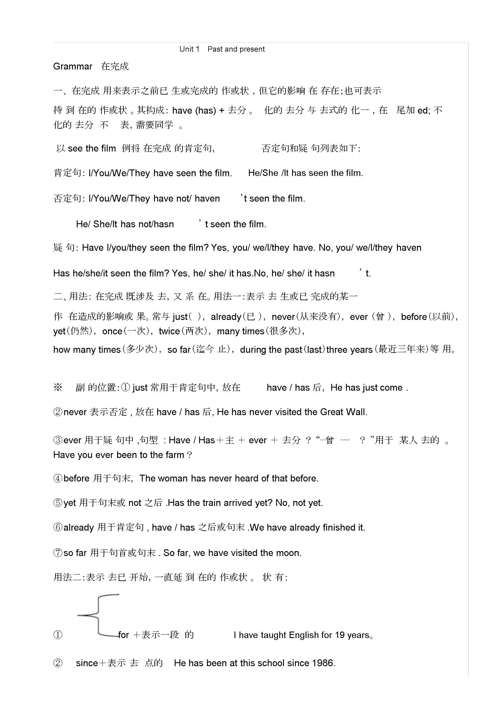 八年级英语现在完成时语法详细讲解与配套习题.docx