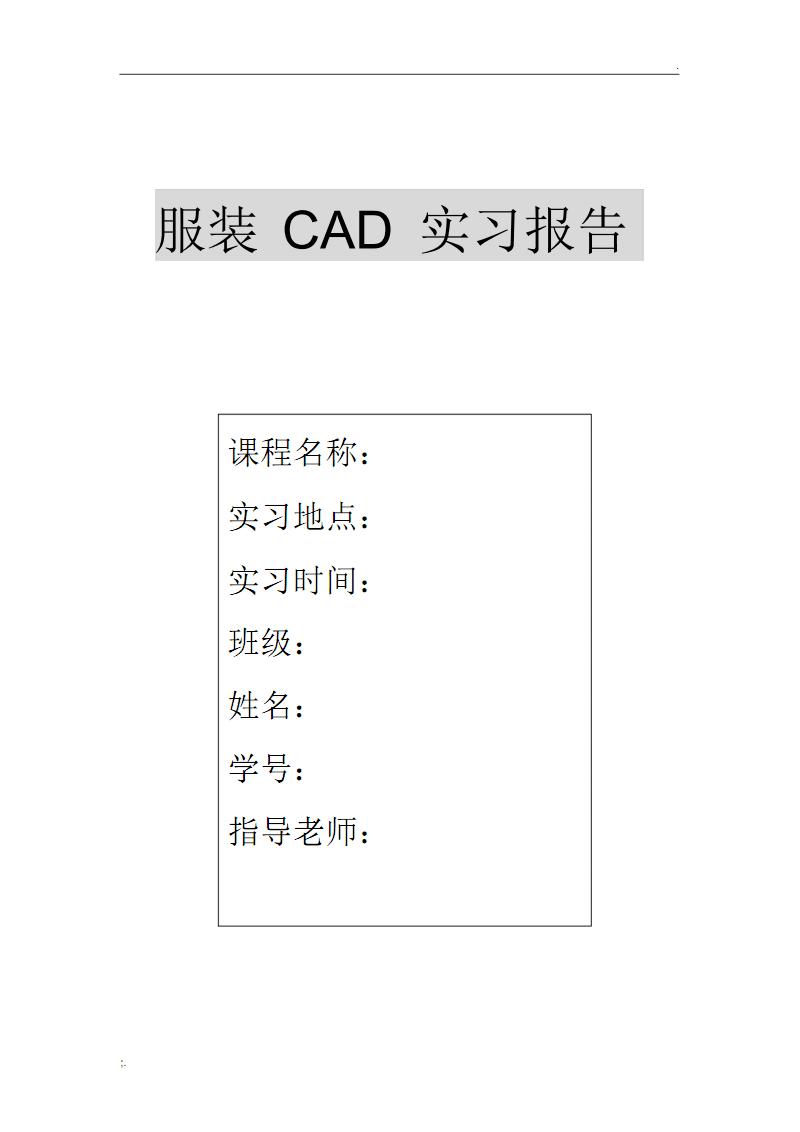 服装CAD实习报告.pdf