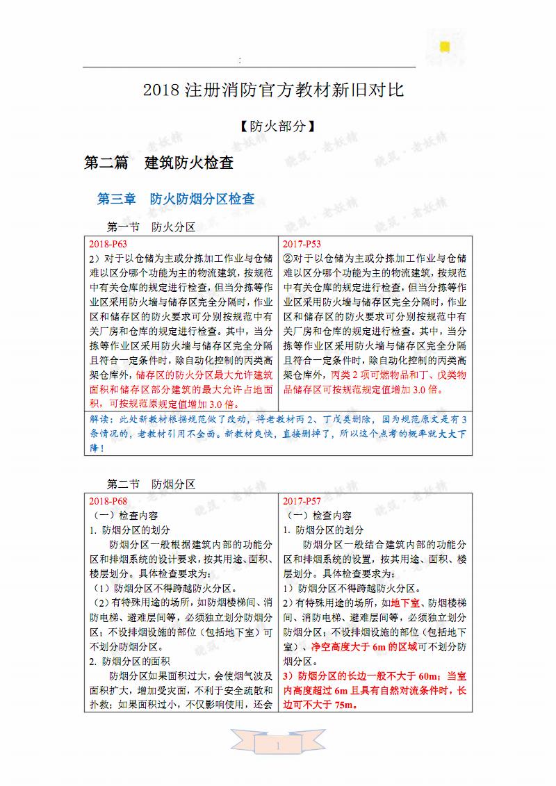 2018注册消防官方教材新旧教材对比-防火4.pdf